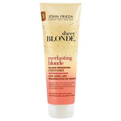 250ml John Frieda Sheer Biondi Hair Care Conditioner Everlasting Extender con il colore