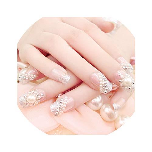 Vender 24PCS caliente/sistemas de la boda de la novia falsa uñas de...