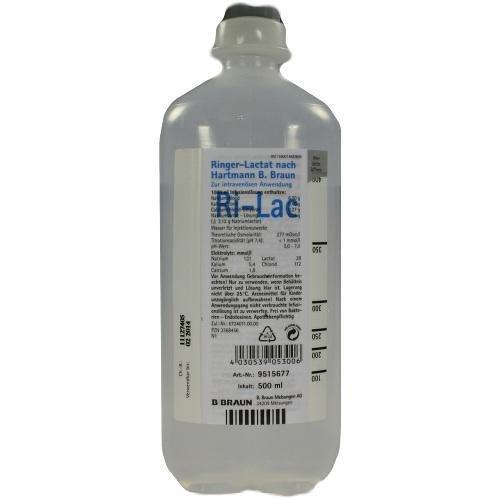 Ringer Lactat N.Hartm.B.Braun Ecofl.Plus Inf.-Lsg., 500 ml
