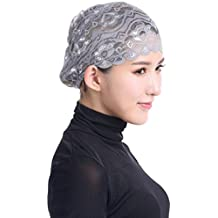 Donne Hijab Hat Lace Ninja Underscarf Head Copricapo islamico Bonnet Cap Scarf Muslim Capelli Cancro Chemioterapia