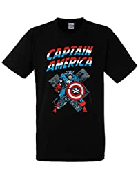 Marvel - Abystyle Officially Licensed - Capitan America T-Shirt Maglia  Maglietta 4eb8a84c4cc