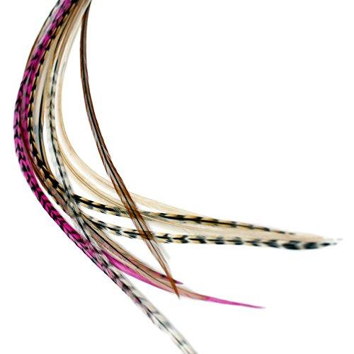 Extensions Capillaires en plumes véritables Rose – Auburn