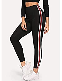 6428e76d7aa76b Helisha Plain White And Red Linning Ankle-Length Gym legging for Women(FREE-