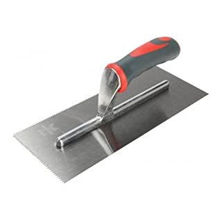 Faithfull SGTNOT3 V-Notched Trowel with Soft Grip Handle