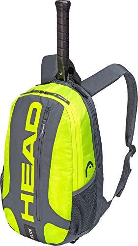Head Elite Zaino Portaracchette, Unisex, 283759GRNY, Grey/Neon Yellow, Taglia Unica