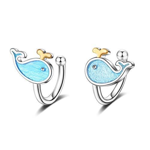 ZHWM Ohrringe Ohrstecker Ohrhänger Niedlichen Symbol Form Ohrclip Für Mädchen Damen Ohrringe Schmuck 925 Sterling Silber Geschenk