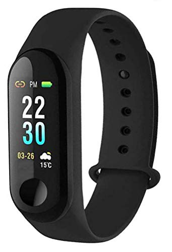 Frizzer DL_N4 Smartwatch Digital Activity Tracker Band 3 Wristband with Daily Step Count | Heart Rate Monitoring Compatible with All Smartphone Device (Assorted Colour)