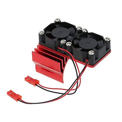 CUHAWUDBA 540/550 Moteur Dissipateur De Chaleur Double Ventilateur De Refroidissement pour 1/10 Hsp Voiture Rc - Rouge