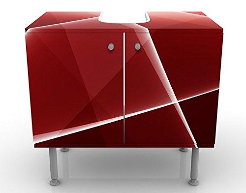 Apalis 54208 Waschbeckenunterschrank Red Reflection, 60 x 55 x 35 cm - 2