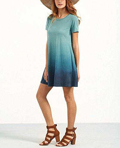 Yidarton Donna Abito Estivo Vestito Corto Casual Senza Maniche Beach Dress T-Shirt da Estate Vestiti Stile-1