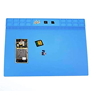 Gojiny Heat Resistant Soldering Mat, Non-Slip Silicone Repair Mat Non-Slip Silicone Repair Mat Anti-Corrosion Electronics Repair Silicone Mat for Computer Mobile Phones