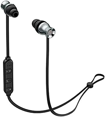 AUKEY Auriculares Bluetooth Deportivos Sonido Estérero con Micrófono Metal con Imán Compatible con iPod, iPhone, Sony, Samsung y Smartphones (EP-B37)