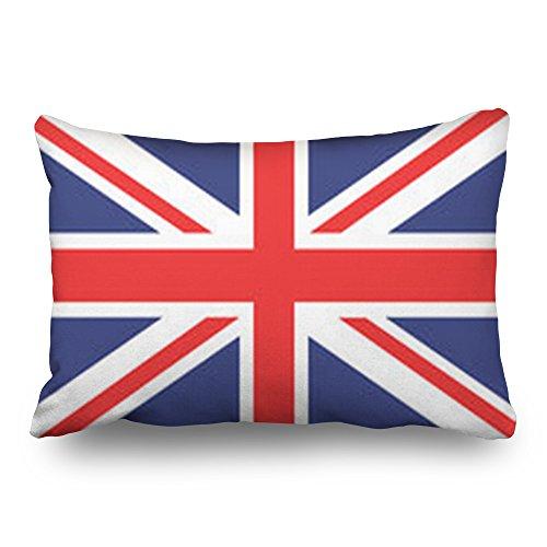 LOLYeah Fundas de Almohada diseño de Bandera británica con Texto en inglés Union Signs Symbols England...
