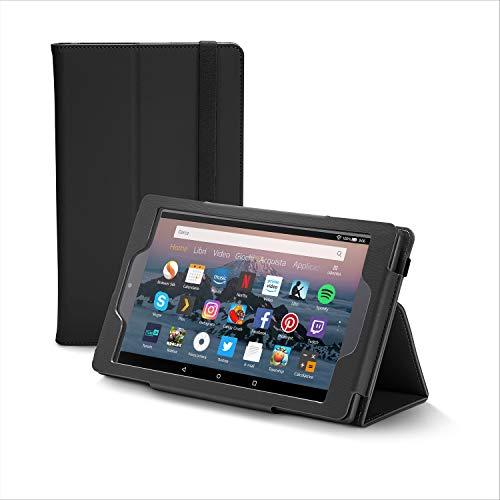 Nupro Custodia premium pieghevole per tablet Fire HD 8, colore: nero