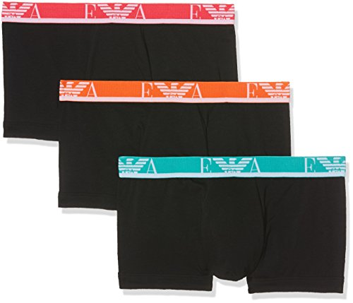 Emporio Armani Underwear Herren Retroshorts 1113577P715, Schwarz (Nero/Nero/Nero 21320), Large (Männer Armani Emporio Unterwäsche)
