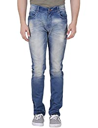 Realm Men Light Blue Slim Fit Stretchable Jeans