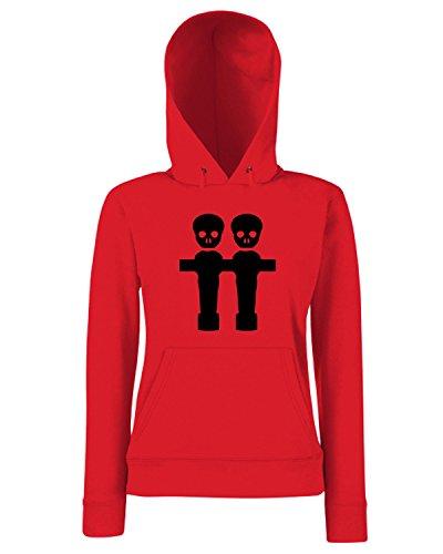 T-Shirtshock - Sweats a capuche Femme WC1230 Football Table Maglietta Rouge
