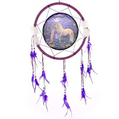 Decorative Fantasy Unicorn Garden Dreamcatcher Size: 32.5 cm H x 32.5 cm W x 5 cm D