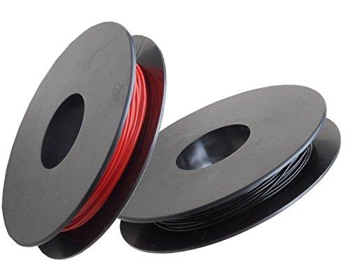 yv cambios de alambre Surtido, 0,50mm, cobre, 2x 25m Bobinas, color rojo/negro