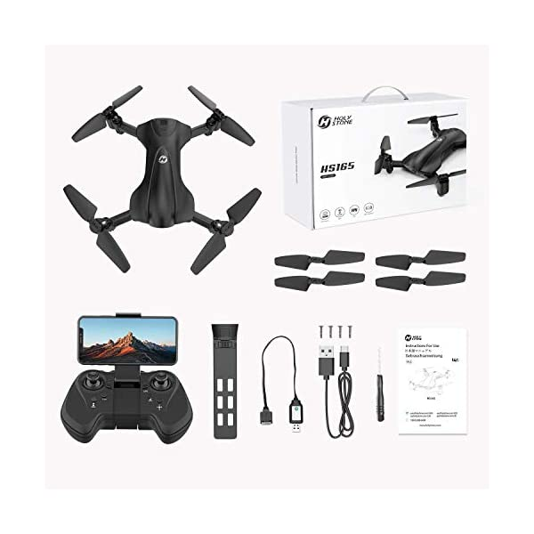 Holy Stone HS165 GPS Drone with 2K HD Camera for Adults, Foldable Drone for Beginners, FPV RC Quadcopter with GPS Return Home, Follow Me, Altitude Hold and 5G WiFi Transmission Live Video 9