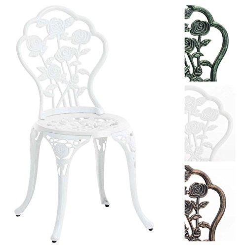 CLP Stuhl SHARMA, Gartenstuhl Eisen, Metallstuhl Aus Aluminium Guss,  Nostalgischer Look,