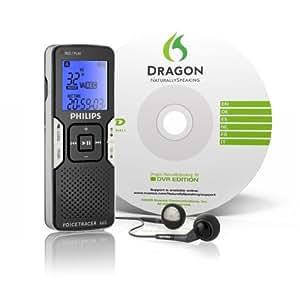 Philips Voice Tracer numérique 660 1 Go de mémoire flash mono avec Dragon Naturally Speaking version 10