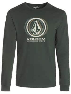 Volcom Herren langärmeliges T-Shirt Sedated Stone Long Sleeve, Jungle Green, L, A3631451JNG