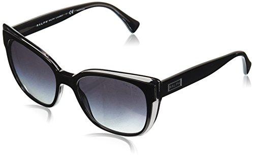 Ray-Ban Damen 0RA5242 Sonnenbrille, Schwarz (Shiny Top Black On Grey), 55