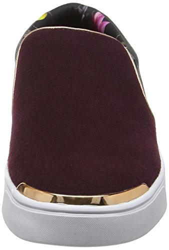 Ted Baker Cahoo, Baskets Basses Femme Rouge - Red (Burgundy/Dark Grey)