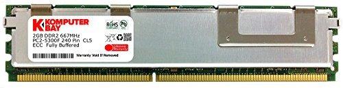 KOMPUTERBAY Speichermodul (2GB: 1 X 2 GB) 667 MHz, DDR2, PC2-5300 ECC FB Dual Rank 2RX4 Ram-Speicher, Voll Gepuffert - Fb, Voll Gepuffert