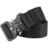 HCFKJ CinturóN De Lona Militar TáCtico CinturóN De Entrenamiento Para Hombres Militar,125cm Longitud,3.8cm Ancho