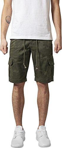 Urban Classics Herren Camo Cargo Shorts Mehrfarbig /olive camo 775