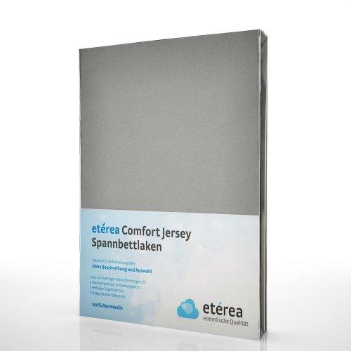 Etérea Kinder Jersey Spannbettlaken - Serie Comfort - 100% Baumwolle Spannbetttuch Farbe Frost Grau, in der Größe 60x126-70x146cm