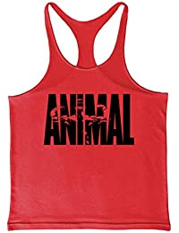 Cabeen Animal Camiseta Deportiva Sin Mangas de Tirantes Hombre Gimnasio Tank Top Culturismo