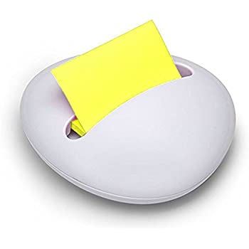 POST-IT 3M WEIGHTED WHITE STONE POP UP Z NOTE REFILLABLE DISPENSER INC NOTES