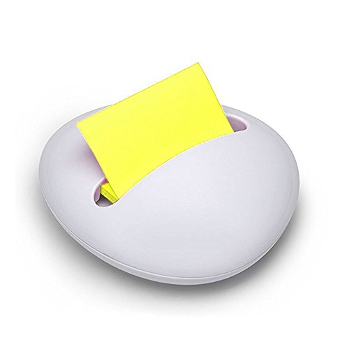 Post-it® Stylische weiß stone Design beschwert Z-Notes Nachfüllbarer Spender + 1Stück gelb Z-Notes.