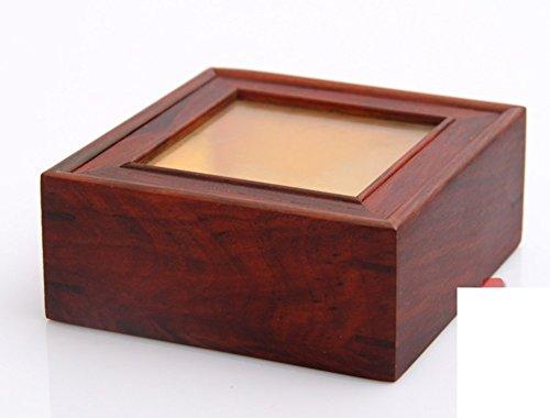 Palo de rosa rojo caoba vidrio colección de cajas/clásico poco caja