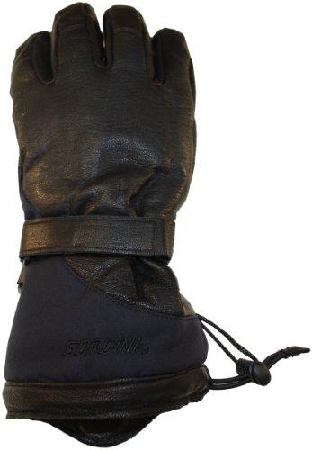 Gordini Damen das Leder Gans Handschuh, damen, schwarz (Handschuh Gordini-schwarz)