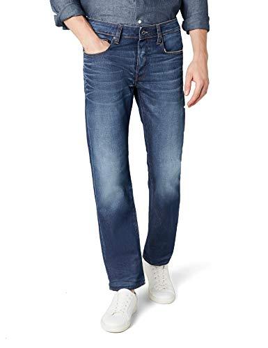 G-star Straight Leg Jeans (G-STAR RAW Herren Straight Leg Straight Jeans 3301 Straight 51002 - 4639, Gr. W30/L34, Blau (Medium Aged 071))