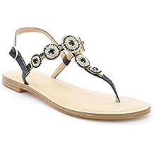 Toocool - Scarpe donna sandali infradito gioiello strass ciabatte flat  Queen Helena 6001 90ad3cc014d