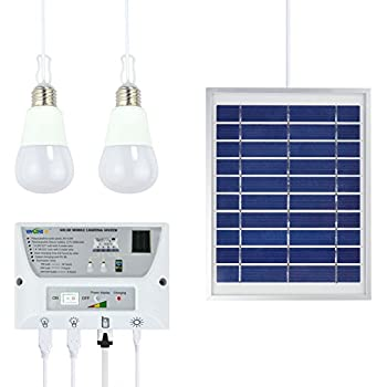 Portable Solar Mobile Lighting System Cellphone Home Emergency Lights Power Pack for Indoor and Outdoor - with 1*1W E27 LED Bulb + 1*2W E27 LED Bulb ...  sc 1 st  Amazon UK & LED Shed Light - Solar Powered - Bright White - Remote Control ... azcodes.com