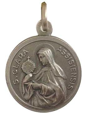 Medaille St. Klara von Assisi - 925 Sterling Silber