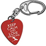 Keep Calm And Love dragones Logo de Juego de Tronos púa de guitarra Llavero (GD