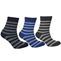 Kids Thermal Socks - Girls, Boys, Thick Knit, Winter Socks, Warm, Comfortable, High Performance, Mixed Pack, 2.45 Tog