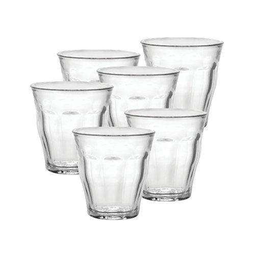 Duralex Picardie Wasserglas 250ml, ohne Füllstrich, 6 Stück