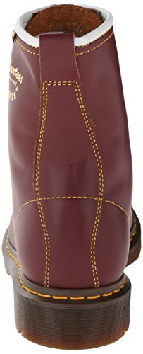 Dr Martens 1460 Milled Smooth Stivali Unisex - Adulto Rosso bordeaux