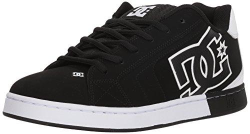 Schwarz Nubukleder Skate Schuhe (DC Net Se, Skate-Schuhe, für Herren, Schwarz/Weiß, 51 EU)