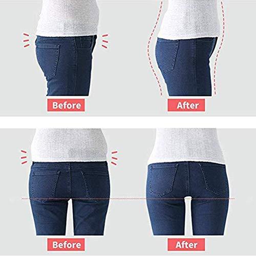 Biddtle Damen Miederhosen Bauch Weg Miederslip Formende Body Shaping Unterwäsche Hohe Taille Butt Push Up Shapewear Dünn Figurformend Taillenformer,Rosa,L - 5
