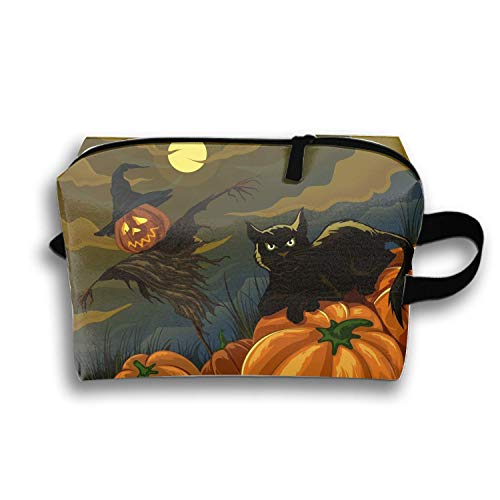 Cosmetic Bags Travel Portable Makeup Pouch Holiday Halloween Clutch Bag Bebe Satin