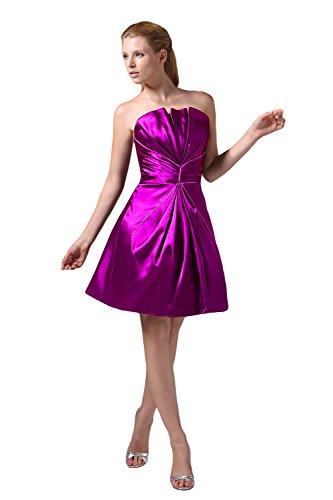 Bridal_Mall -  Vestito  - linea ad a - Senza maniche  - Donna Porpora
